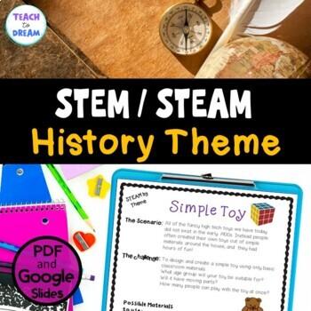 STEM Task Cards, STEAM Task Cards - History Theme: BUNDLE!