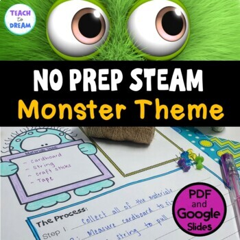 STEM Task Cards, STEAM Activities - Monster Madness Theme: