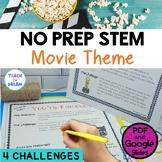 STEM Task Cards, STEAM Activities - Movie Star Theme/ Hollywood: BUNDLE!