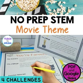 STEM Task Cards, STEAM Activities - Movie Star Theme/ Hollywood: No Prep!