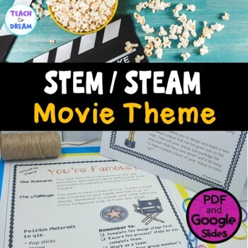 STEM Task Cards, STEAM Activities - Movie Star Theme/ Holl