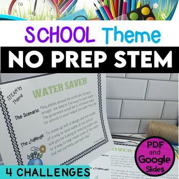 STEM Task Cards, STEAM Task Cards - School Theme: BUNDLE!