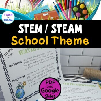 STEM Task Cards, STEAM Task Cards - School Theme: BUNDLE!