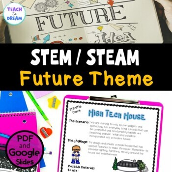 STEM Task Cards, STEAM Activities - The Future Theme: BUNDLE!