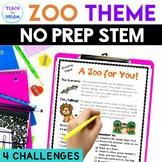 STEM Task Cards, STEAM Activities - Zoo Theme: BUNDLE!