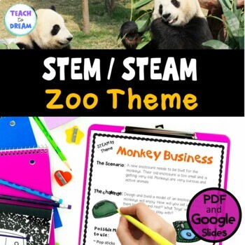 STEM Task Cards, STEAM Activities - Zoo Theme: BUNDLE!
