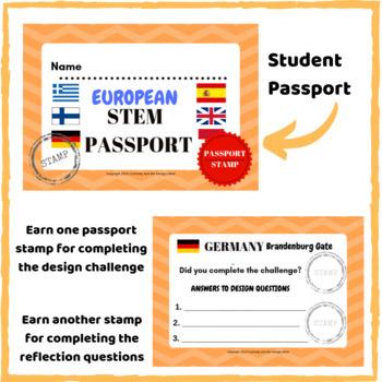 STEM Activities- Student Passport around EUROPE