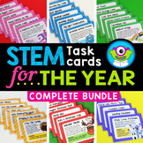 STEM Task Cards for the Year - Distance Learning + SeeSaw