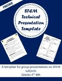 STEM Technical Presentation Worksheet- FREE
