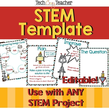 Stem Template For The Engineering Design Process Editable Tpt