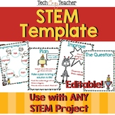 STEM Template for the Engineering Design Process- EDITABLE!