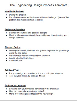 Science - The Engineering Design Process Unit with 14 STEM Design Challenges