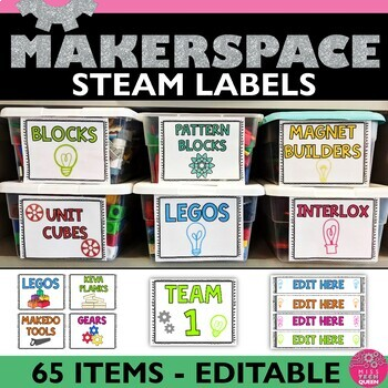 STEM Themed Classroom Labels