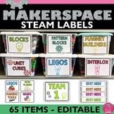 STEM Maker Space Classroom Labels