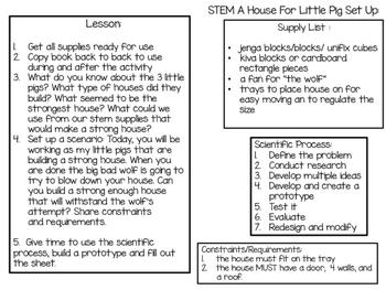 STEM Three Pigs Activity Pack