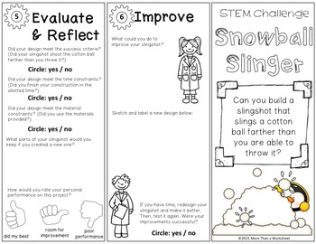 STEM Trifold: Snowball Slinger