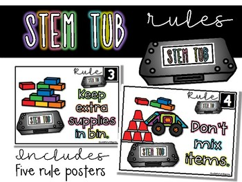 STEM Tub Rules