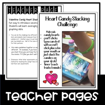 STEM Valentine's Day Heart Candy Stacking Challenge
