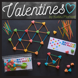 STEM Valentine's Printable Bag Insert for Marshmallow / Toothpick Building Kit