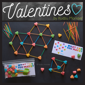 photo regarding Building With Toothpicks and Marshmallows Printable referred to as STEM Valentines Printable Bag Incorporate for Marshmallow / Toothpick Developing Package