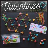 STEM Valentine's Printable Bag Insert for Marshmallow / To
