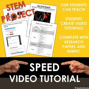 STEM Video Tutorial Project for Calculating and Graphing Speed