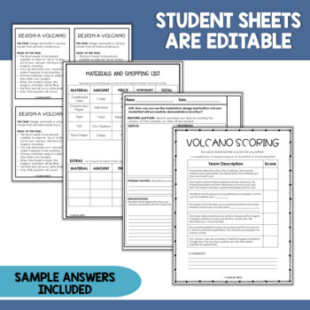STEM Quick Challenge Volcanoes