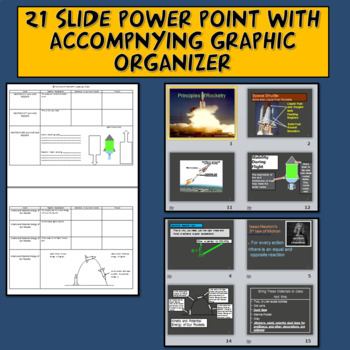 STEM Water Bottle Rockets Lab, PowerPoint and Graphic Organizers
