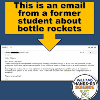 MS-PS2-1: STEM Bottle Rockets PowerPoint Graphic Organizer Close Reading & Notes