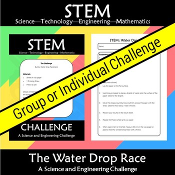 STEM Water Drop Race: A Science and Engineering Challenge
