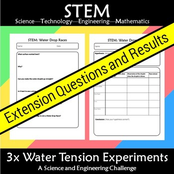 STEM 3x Water Tension Experiment Challenge Bundle