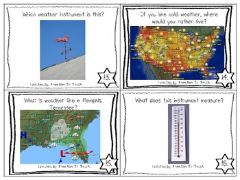 STEM: Weather Task Cards & Think-Tac-Toe with Rubric!
