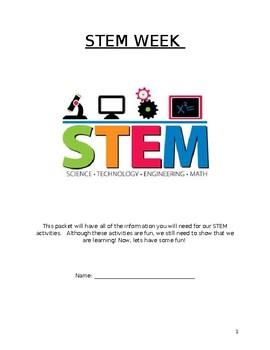 STEM Week Activity Packet