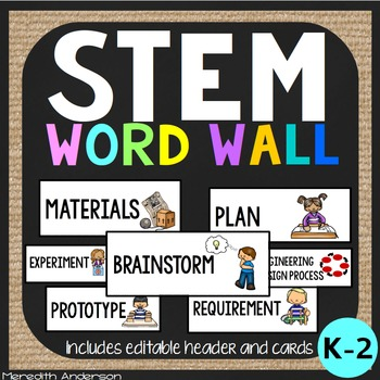 STEM Word Wall for K-2
