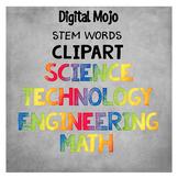 STEM Words Clipart