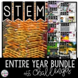 STEM Challenges For the Whole Year Bundle with End of the Year Activities