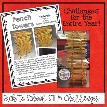 STEM for Entire Year includes Back to School STEM Activities (Distance Learning)