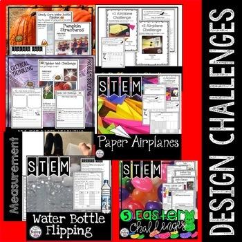 STEM Entire Year includes Halloween STEM Activities + Digital