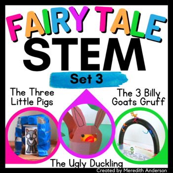 STEM activity BUNDLE (Set 3) Fairy Tale Challenges