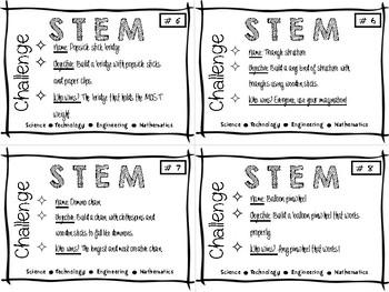 STEM activity cards