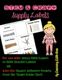STEM and Craft Supply Labels