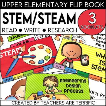 STEM, STEAM, and Engineering Design Process Flipper Books