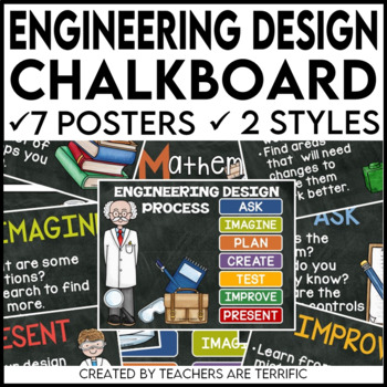 Engineering Design Process Posters Chalkboard Version