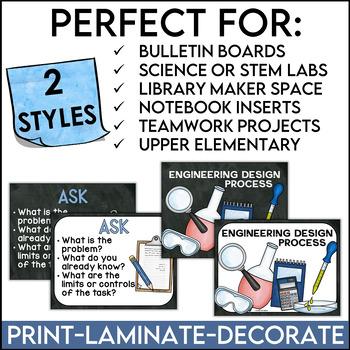 Engineering Design Process Posters Chalkboard Version