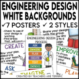 Engineering Design Process Posters featuring White Backgrounds