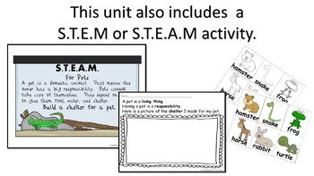 STEM and Literacy Station Activities for Pets