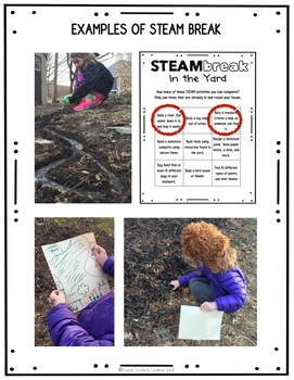 STEM and STEAM Activities:  STEAM BREAK