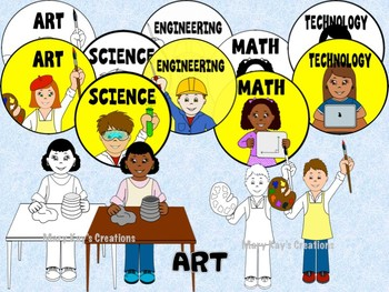 STEM and STEAM Makerspace Kids Clip Art