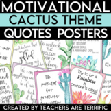 STEM and Science Quotes Posters featuring a Cactus Theme
