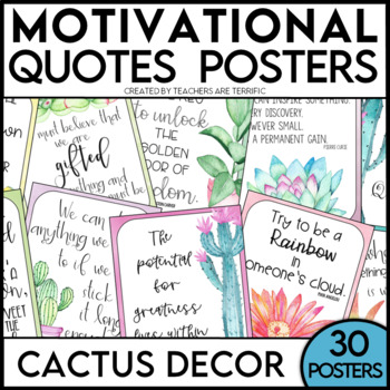 Quotes Posters featuring a Cactus Theme